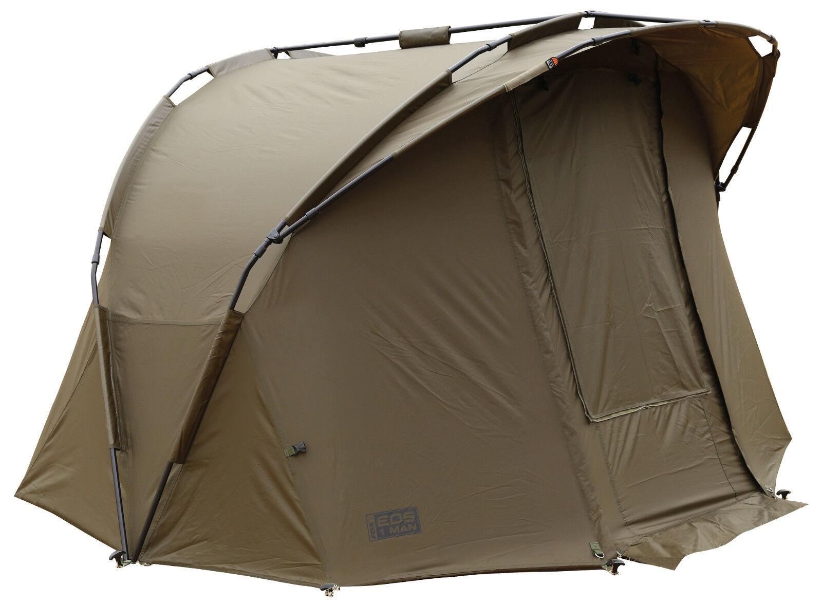 Fox EOS 1 Uomo Bivvy cum255 tenda carpa TENDA Tent Tenda Angel