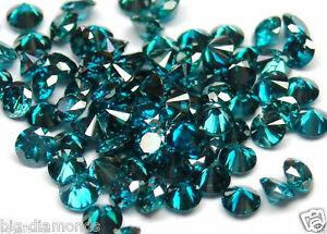 Blue, Yellow and Green Si1-I1-3 Natural Round Diamond 1 pcs 2.80 ~ 4.00 mm