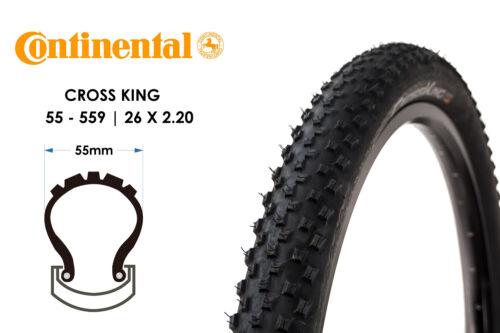 26 Zoll Continental Cross King 55-559 Fahrrad Reifen MTB Crossrad 26x2.20 Mantel