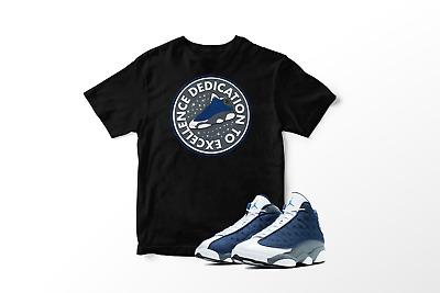 Dedication To Excellence Black T Shirt To Match Air Jordan 13
