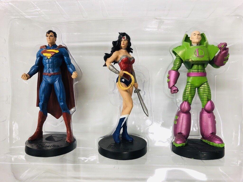 Superman wonder woman lex luthor eaglemoss masterpiece collection collection collection boit magasine 8016aa