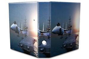 Archivador A4 Carpeta 2 anillas 60mm impreso Porta aviones de jet