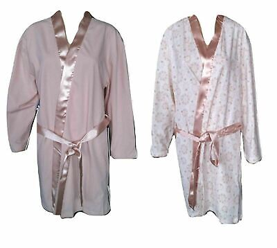 PräZise Womens Ladies Dressing Gown Summer Cotton Lightweight Gowns Holiday Robe