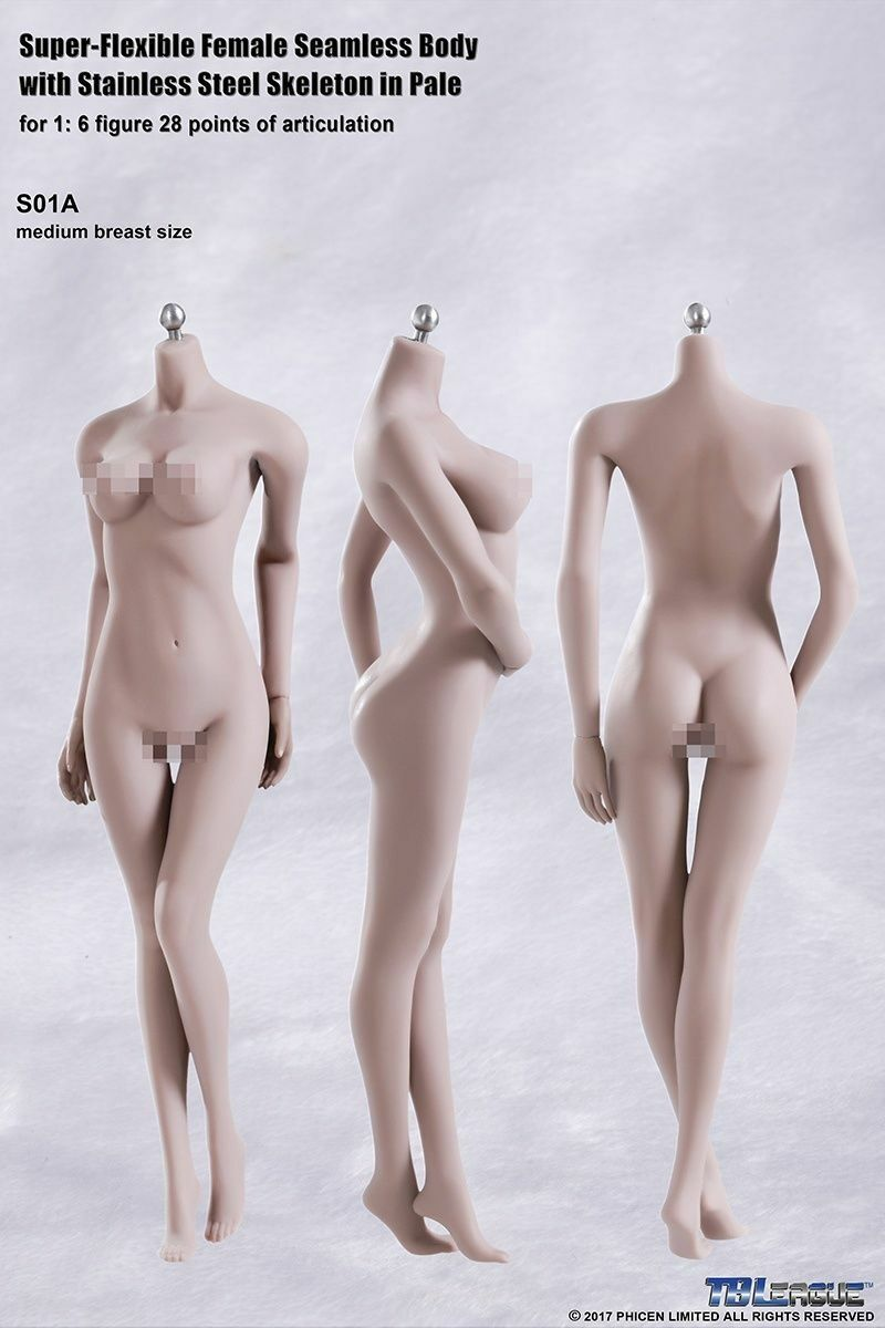 TBLeague Phicen 1 6 Action Figure S01A Flexible Steel Skeleton Seamless