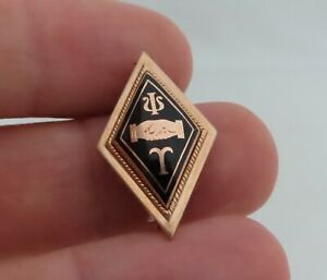 Vintage-10K-Gold-Psi-Tau-Fraternity-Pin-80943