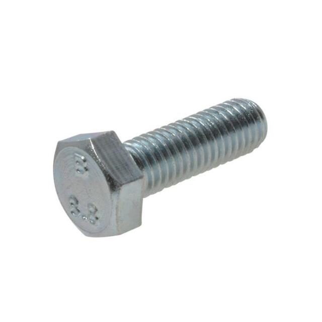 Zinc Plated M6 (6mm) Metric Coarse Hex Set Screw Class 8.8 Bolt