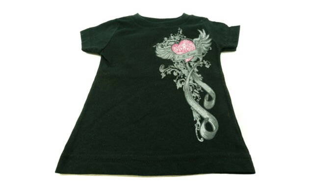 New LA Kings Toddler Baby Girls Pink Heart Angel Wings Black T Shirt Tee  NHL C16 db83f26e8caf