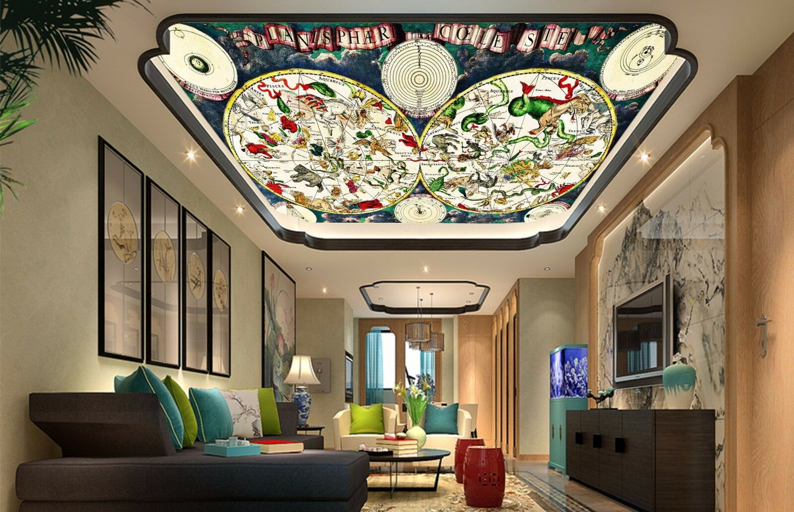 3D Painting 6 Ceiling WallPaper Murals Wall Print Decal AJ WALLPAPER US