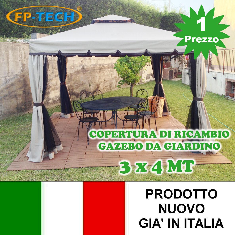 Gazebo In Legno 3x4 Prezzi.Fp Tech Fp Yx2214 3x4 Copertura Di Ricambio Per Gazebo Da Giardino Beige
