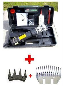 NEW-350W-Electric-SHEEP-GOATS-SHEARING-CLIPPER-SHEARS-With-Extra-STRAIGHT-BLADE