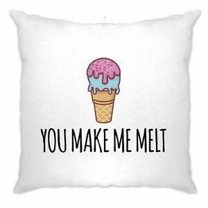 Valentine-039-s-Day-Cushion-Cover-You-Make-Me-Melt-Pun-Joke-Cute-Couples-Slogan