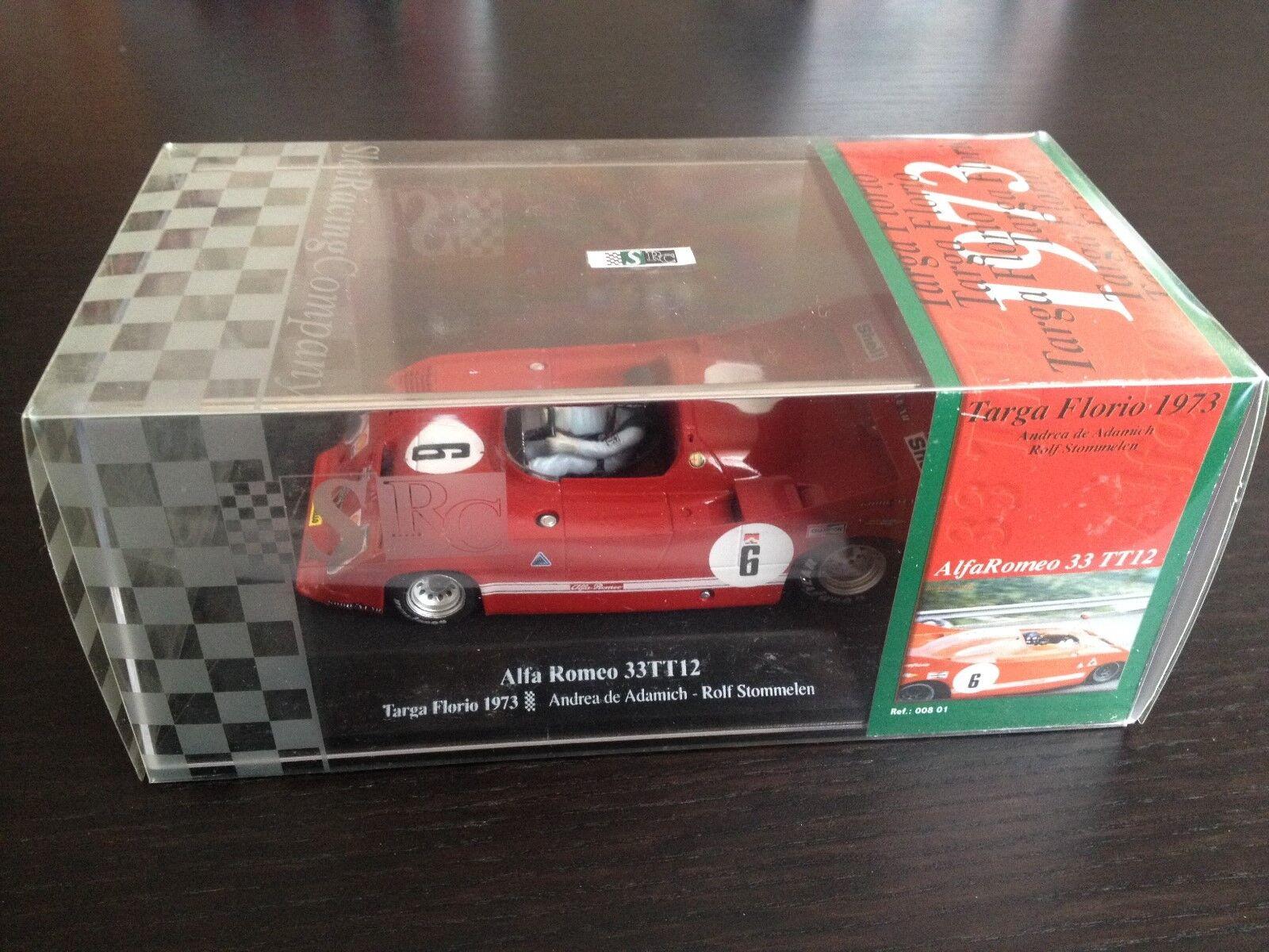 SRC slot car Alfa Romeo 33 TT12 Targa Florio 1973 A. von Adamich R. stommelen