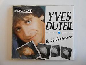 YVES-DUTEIL-LES-DATES-D-039-ANNIVERSAIRES-CD-MAXI-promo-PORT-GRATUIT
