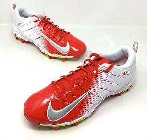 NEW Nike Vapor Untouchable Shark 3 Football Cleats Red//White Men/'s Size 12