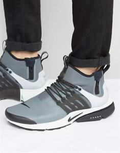 0f13fea23a00 Image is loading Nike-Presto-Utility-Mid-Sneakers-New-Wolf-Grey-