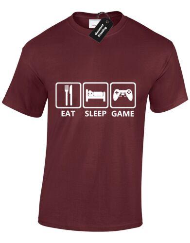 Eat sleep game hommes t shirt arcade atari nes équipe wasd pac man présentent de nouveaux