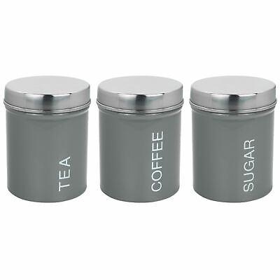 Consegna Veloce Metallo Tè Caffè Zucchero Contenitore Barattoli Cucina Sicura Guarnizione In Gomma Grigio- Adatto Per Uomini, Donne E Bambini