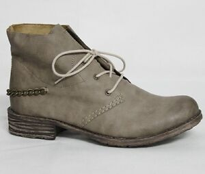 64 Details 74744 Damen Beige Stiefeletten Rieker Stiefel Zu Schuhe Damenschuhe Boots zSpUMV