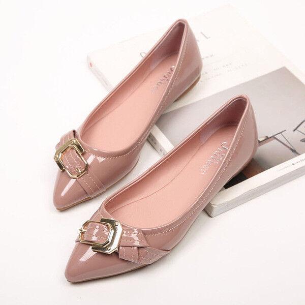 Ballerines mocassins chaussures pour femmes élégant confortable rose poli comme