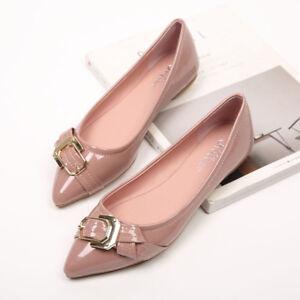 bailarinas mocasines zapatos de mujer elegantes cómodo rosa brillante como piel