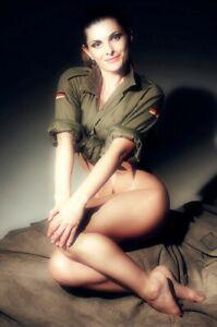 Uniform-Pinup-Nice-Sexy-Womanrl-Vintage-Retro-War-Photo-WW2-Size-4x6-Q