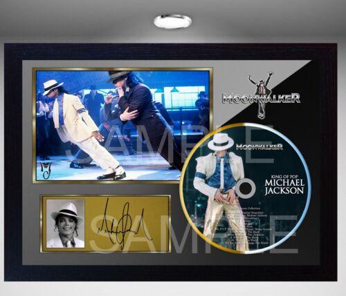 MOONWALKER /& MICHAEL JACKSON SIGNED FRAMED PHOTO CD Disc Perfect gift pre-print