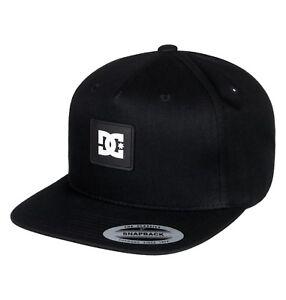 47a56371641 DC SHOES MENS BASEBALL CAP.NEW SNAPDOODLE BLACK FLAT PEAK COTTON HAT ...