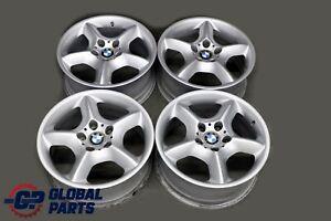BMW-X5-E53-Silver-Complete-4x-Wheel-Alloy-Rim-17-034-Star-Spoke-57-7-5J-ET-40