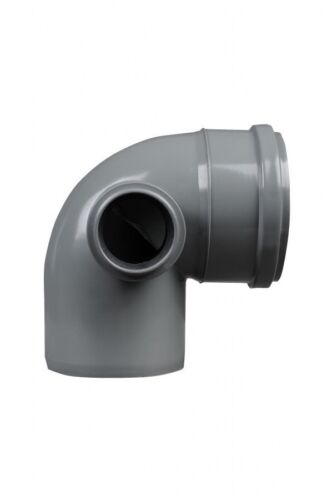 Waste G 110mm Soil Pipe Elbow Bend 90° Single Socket with 50 mm Left Side Inlet