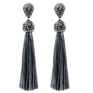 Handmade-Long-Tassel-Earrings-Bohemian-Silk-Crystal-Dangle-Drop-Earrings-Women