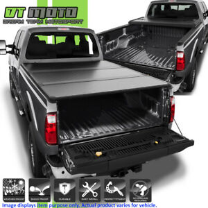 Hard Tri Fold Tonneau Cover For 1999 2018 Ford F250 Superduty 6 5ft 78 Bed Ebay