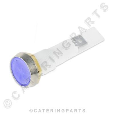 10MM UNIVERSAL BLUE LENS CAP NEON PANEL MOUNTED INDICATOR BULB 230V RATED