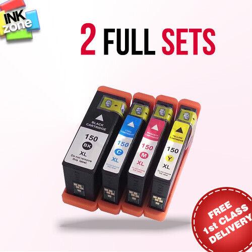 150XL 2 Full Colour Set Di Non-Oem Cartucce d/'Inchiostro per Stampante LEXMARK Pro715