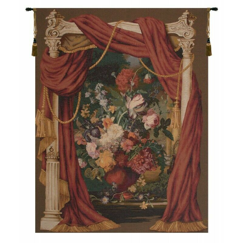 Bouquet Theatral French Tapestry Wall Hanging