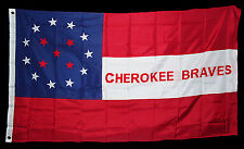 American Civil War Southern Cherokee Braves Indian Cavalry Stars & Bars Flag