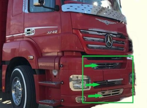 Mercedes Actros MP 2//3 Front Chest Trim  Super Polished Stainless Steel 3 Pcs