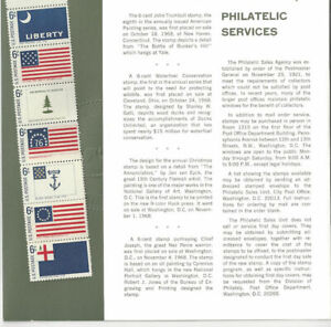 1968-Commemorative-Stamp-Year-Set-Mint-NH-Type-II-26-Stamps-Folder-O-369-245