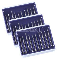 3x Dental Clinic Fg330 Tungsten Steel Carbide Burs Drill F High Speed Handpiece