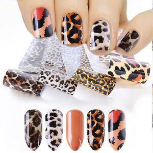 4Pcs-Set-Leopard-Nagelfolien-Nail-Art-Transfer-Stickers-Nagel-Kunst-Decals-20cm