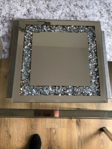 Écrasé Loose Strass Miroir Table Tapis Candle Stand Bling Sparkle NEUF