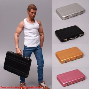 """1//6 Scale Suitcase Model for 12/"""" Action Figure Scene Accessories"""