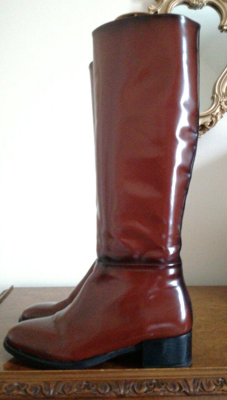 Zara Woman Brown UK5 Faux Leather Equestrian Riding Boots FR38 UK5 Brown EU38 Fabulous e2134a