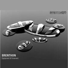 1Set 7Pcs Brenthon F R Wheel Hub Emblem Black For Hyundai Veloster 2011-2016