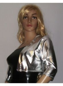 F.GIRTH Kurz Jacke gold Leder Optik | eBay