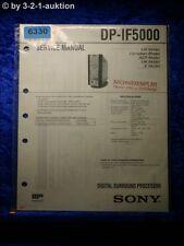 Sony Service Manual DP IF5000 Digital Surround Processor (#6330)