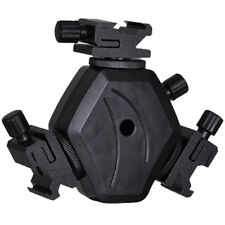 Pro Holder bracket socket For 3 Flashgun TRIPLE Speedlight can use umbrella