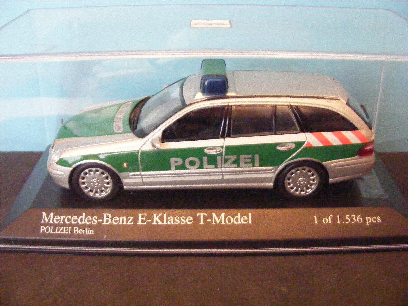Mercedes Benz Clase 'e' Berlín Pol. Izei Estate Coche 1 de 1536 Minichamps 1 43rd.