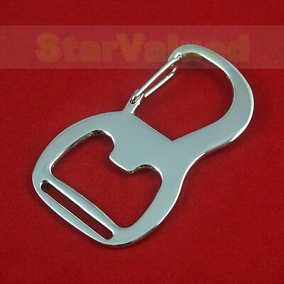 LOT 1-100 Keychain Bottle Opener Sling Clip Snap Hook Carabiner For 25MM Webbing