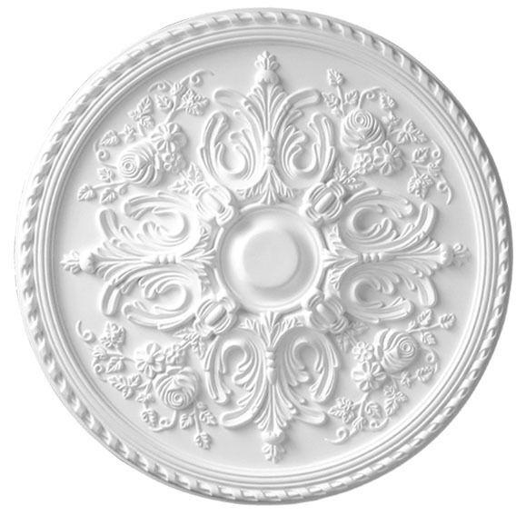 Ceiling Medallion 33 inch Versailles Primed Weiß D582 primed Weiß round large