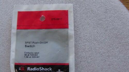 NIP Radio Shack SPST Push On//Off Switch 2750617